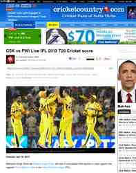 CSK vs PWI Live IPL 2013 T20 Cricket: Cricket Country